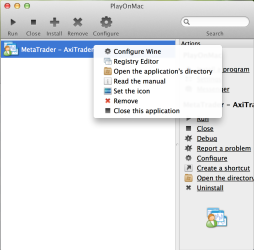 Open the application directory