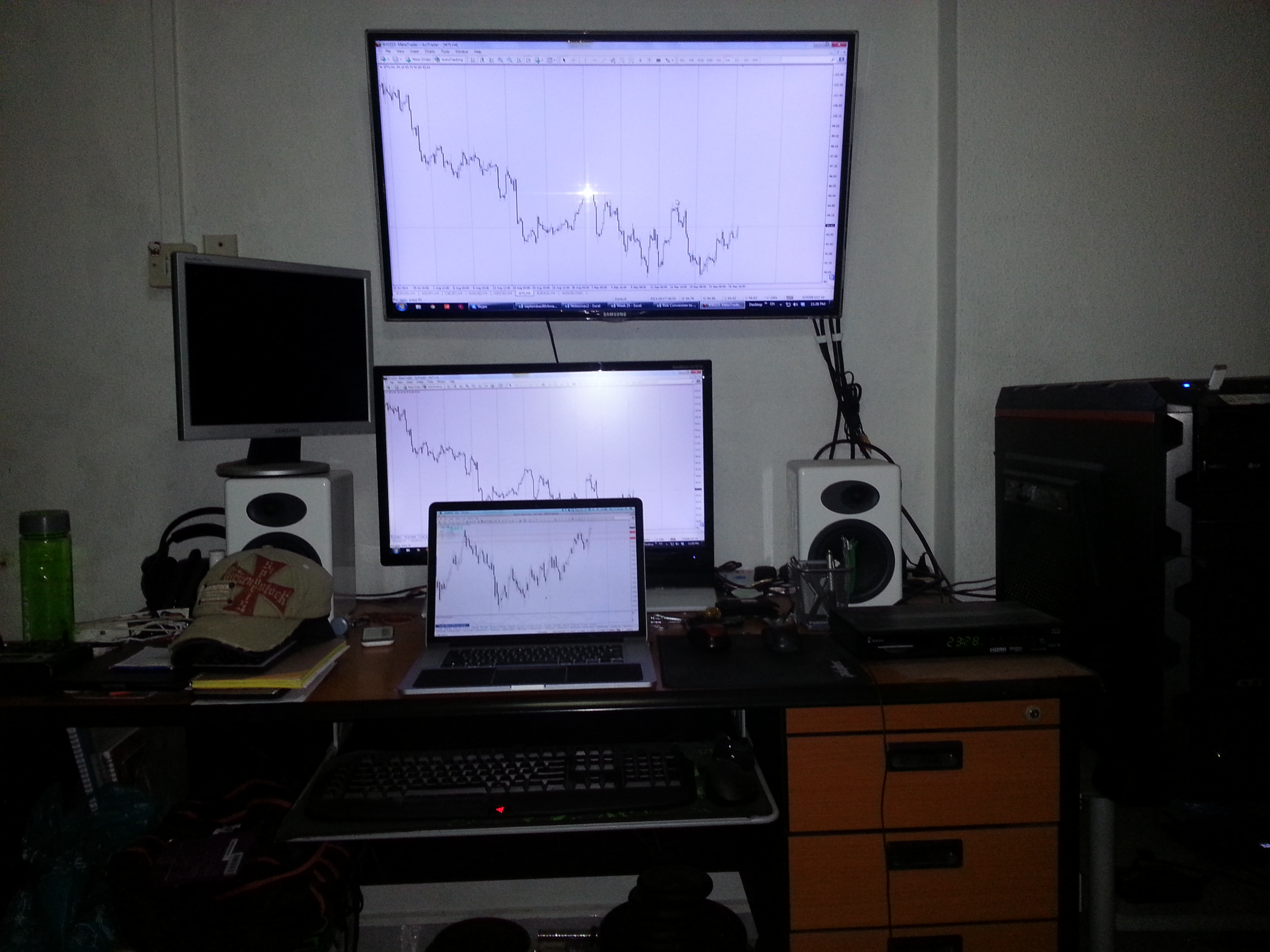 3-trading screen setup I have at home