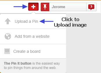 How to upload image to Pinterest