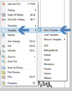 Saving a Template via the Right Click Menu